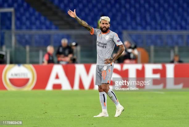 Junior Caicara of Istanbul Basaksehir F.K. In action during the UEFA Europa League group J match between AS Roma and Istanbul Basaksehir F.K. At...