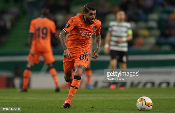 Junior Caicara of Istanbul Basaksehir in action during the UEFA Europa League Round of 32 - First Leg match between Sporting CP and Istanbul...