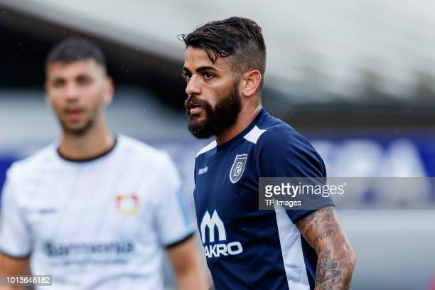 Junior Caicara of Istanbul Basaksehir looks on during the friendly match between Bayer Leverkusen and Istanbul Basaksehir F.K on August 2, 2018 in...