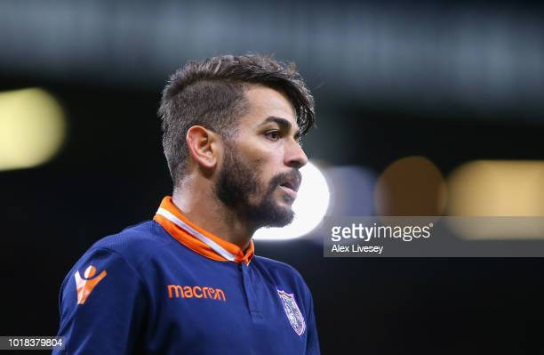 Junior Caicara of Istanbul Basaksehir looks on during the UEFA Europa League third round qualifier, second leg match between Burnley and Istanbul...