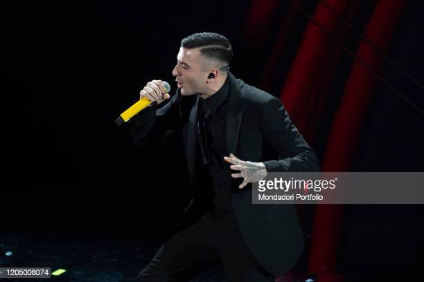Junior Cally at the final evening of the 70 Sanremo Music Festival Sanremo February 8th 2020