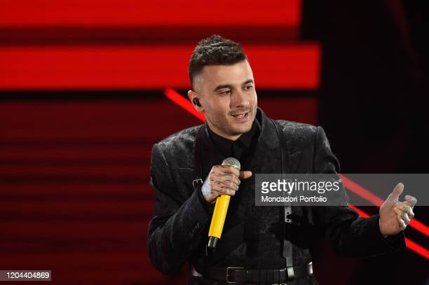Junior Cally at the first evening of the 70th Sanremo Music Festival Sanremo February 5th 2020