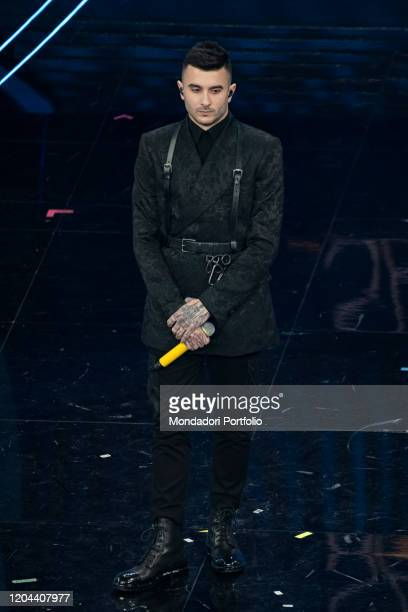 Junior Cally at the second evening of the 70 Sanremo Music Festival Sanremo February 5th 2020