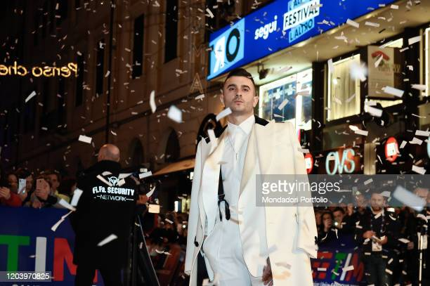 Junior Cally during the opening Red Carpet of the 70 Sanremo Music Festival Sanremo February 3rd 2020