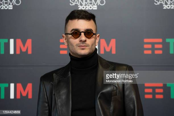 Junior Cally in the Press Room of the 70 Sanremo Music Festival. Sanremo , February 6th, 2020
