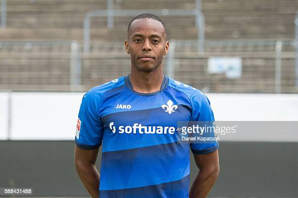 Junior Diaz poses during the Darmstadt 98 Team Presentation on August 11 2016 in Darmstadt Germany