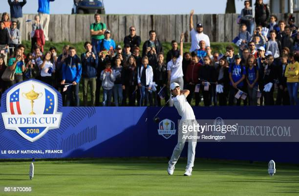 Junior Dimitri Mary of Team Europe in action during the Ryder Cup 2018 Year to Go event at Le Golf National on October 16 2017 in Paris France