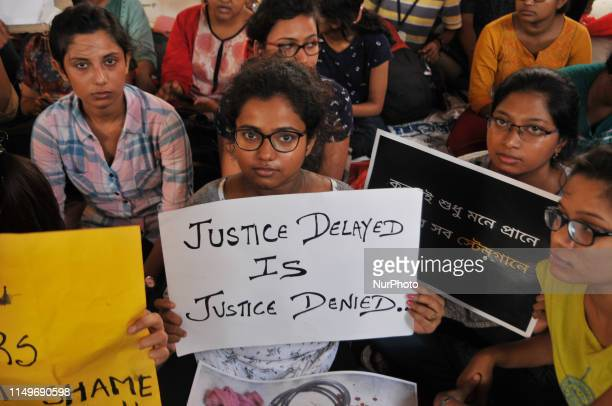 Junior Doctor Hold placards during A strike called by Junior Doctors on June 13,2019 in Kolkata,India. Emergency Word,Outdoor Facilities...
