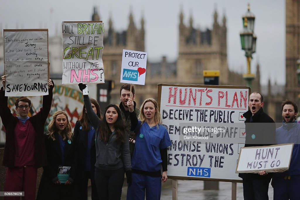 Junior Doctors Stage Second All Day Strike Over Pay And Conditions : News Photo