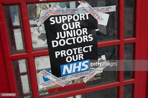 Junior Doctors go on all out strike at the Royal London Hospital, Whitechapel, in a dispute between themselves and the BMA and the Government over...