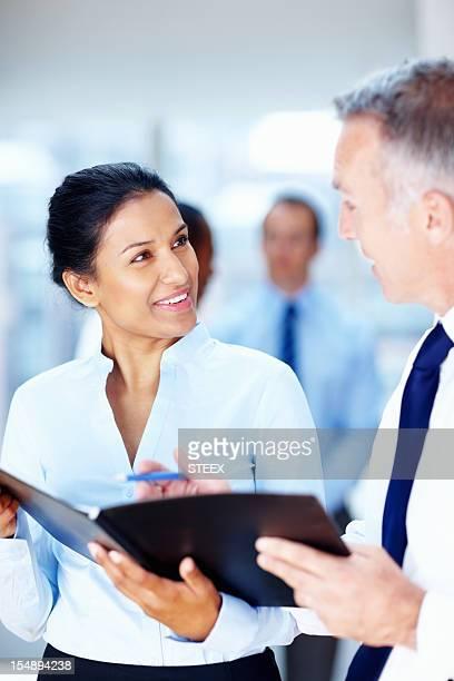 executive Junior discutendo piani con CEO