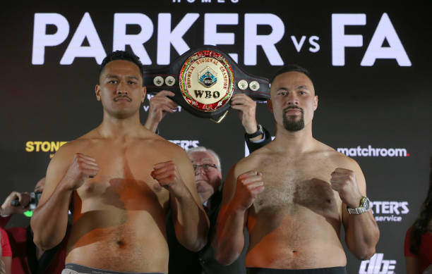 NZL: Joseph Parker v Joshua Fa - Official Weigh In