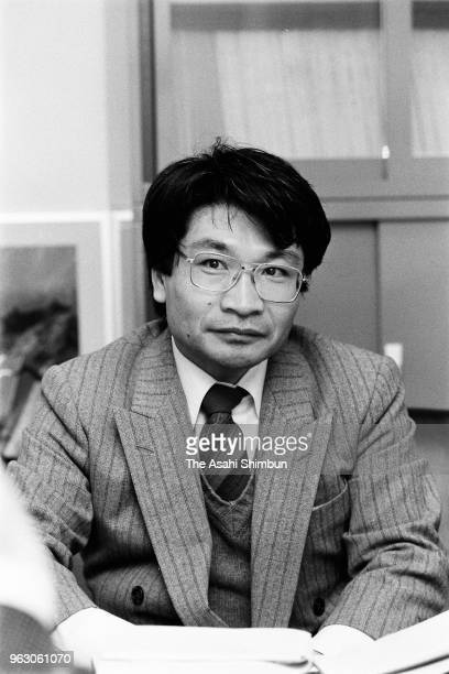 Junior High School Teacher Naoki Ogi speaks during the Asahi Shimbun interview on February 2 1989 in Tokyo Japan