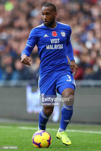 Junior Hoilett of Cardiff City during the Premier League match between Cardiff City and Brighton Hove Albion at Cardiff City Stadium on November 10...
