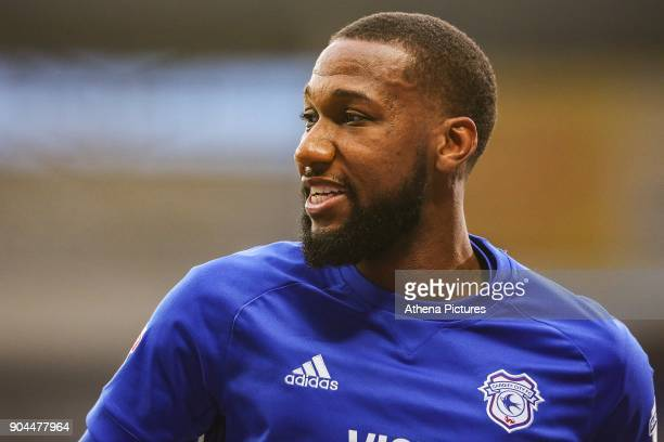Junior Hoilett of Cardiff City during the Sky Bet Championship match between Cardiff City and Sunderland at the Cardiff City Stadium on January 13...