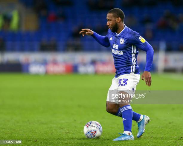 Junior Hoilett of Cardiff City FC during the Sky Bet Championship match between Cardiff City and Nottingham Forest at Cardiff City Stadium on...