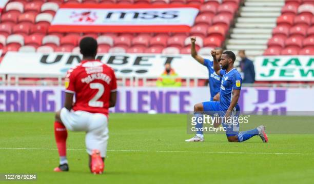 Junior Hoilett of Cardiff City FC during the Sky Bet Championship match between Middlesbrough and Cardiff City at Riverside Stadium on July 18 2020...