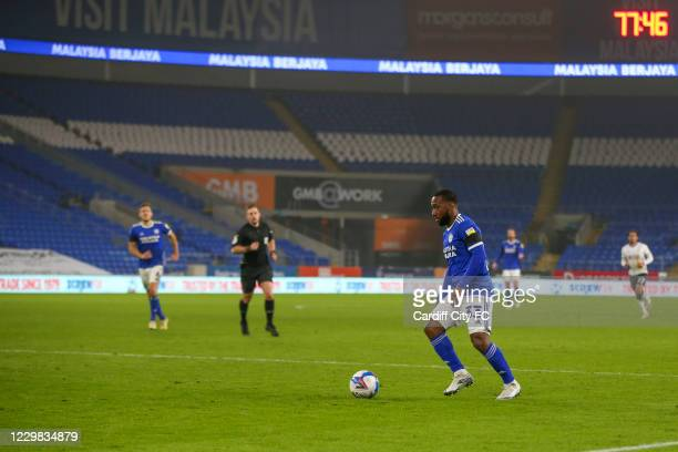 Junior Hoilett of Cardiff City FC during the Sky Bet Championship match between Cardiff City and Luton Town at Cardiff City Stadium on November 28,...
