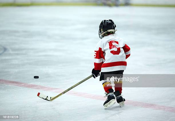 junior ice hockey. - childhood stock pictures, royalty-free photos & images