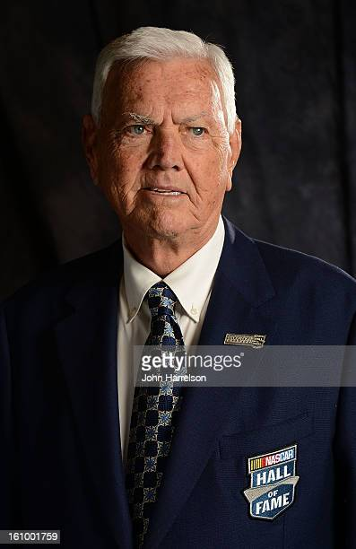 Junior Johnson poses for a portrait at the NASCAR Hall of Fame on February 8 2013 in Charlotte North Carolina