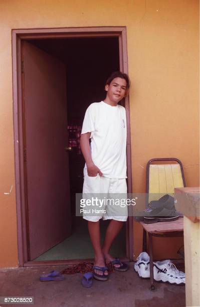 Junior Larry Hillblom son of the late Larry Hillblom at his modest home he shares with his mother He will be inheriting as much as 60% of his...
