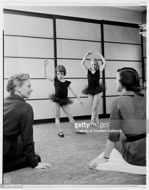 Junior League 22 October 1957 Mrs William D DobsonAnnette Nibley 6 1/2Jane Lee Nibley 9 1/2Mrs Robert R Nibley Caption slip reads 'Photographer...