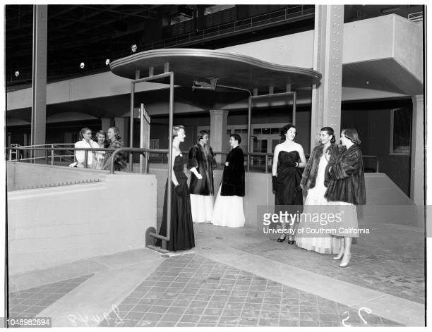 Junior League of Pasadena plans party at turf club Santa Anita Park 13 November 1951 Natalie HowardMrs Durward Howes the ThirdMrs Willard DegrootMrs...
