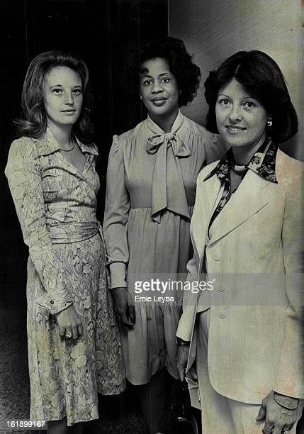 APR 20 1976 APR 21 1976 APR 22 1976 Junior League Party Given Tuesday Mrs Adolph Coors IV right chats with two of the new Junior League provisionals...