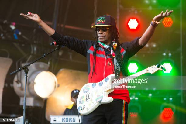 Junior Marvin of Junior Marvin's Wailers performs on Day 3 of Rewind Festival at Scone Palace on July 23 2017 in Perth Scotland