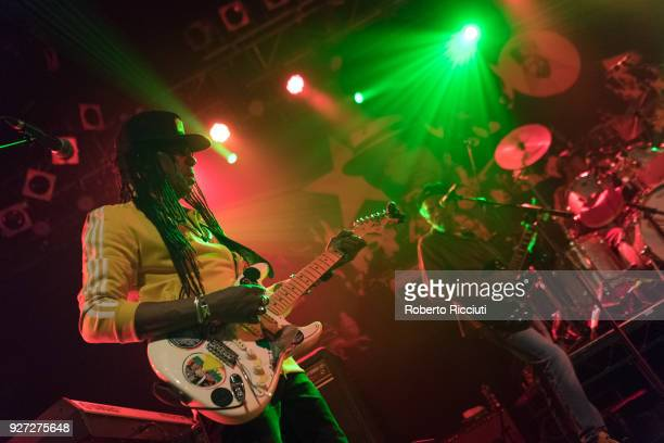 Junior Marvin of The Wailers performs on stage at O2 ABC Glasgow on March 4 2018 in Glasgow Scotland