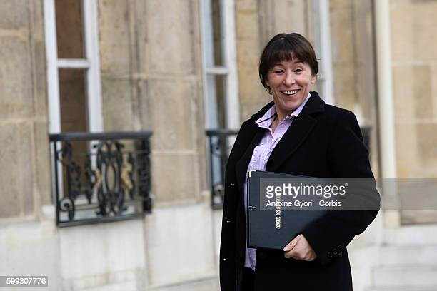 Junior Minister for Urban Affairs Fadela Amara arrives for the weekly cabinet meeting at the Elysee Palace.