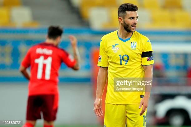 Junior Moraes of Ukraine during the UEFA Nations league match between Ukraine v Switzerland at the Arena Lviv on September 3, 2020 in Lviv Ukraine