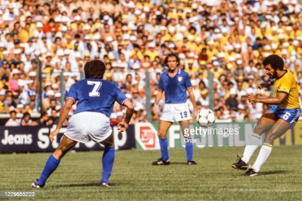 Junior of Brazil during the second stage of the 1982 FIFA World Cup match between Italy and Brazil, at Sarria Stadium, Barcelona, Spain on 5 July 1982