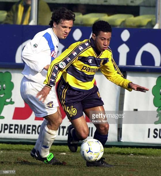 Junior of Parma in action during the SERIE A 19th Round League match between Parma and Brescia played at the Ennio Tardini Stadium Parma Massimo...