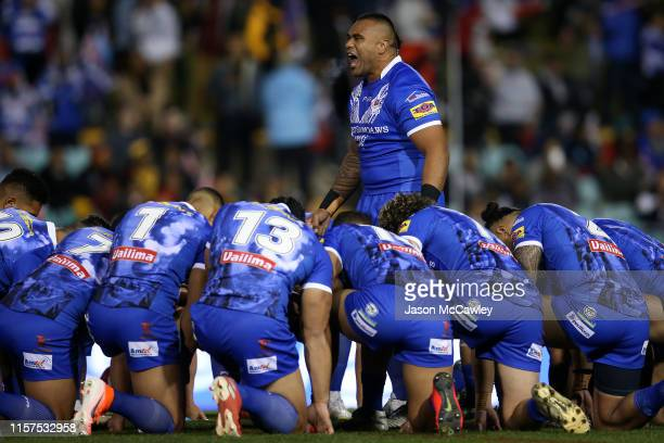 Junior Paulo of Samoa during the Pacific International Test Match between Samoa and Papua New Guinea at Leichhardt Oval on June 22, 2019 in Sydney,...