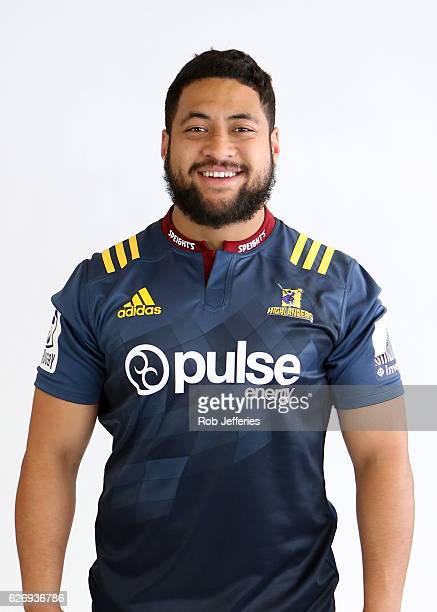 Junior Pole poses for a photo during the Highlanders headshots session on December 1 2016 in Dunedin New Zealand