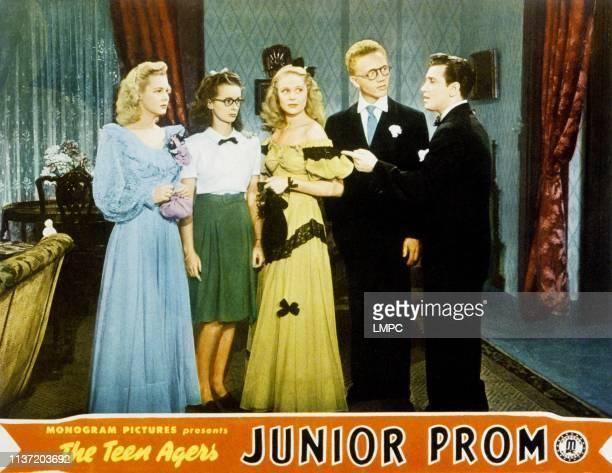 Junior Prom, lobbycard, from left, Judy Clark, Noel Neill, June Preisser, Warren Mills, Freddie Stewart, 1946.