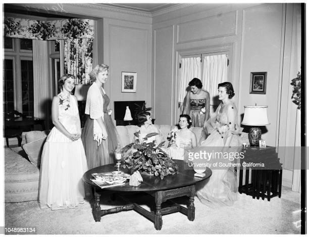 Junior Provisionals of League for Crippled Children buffet supper 01 October 1951 Joan GockeMartha MacDonaldChristina FreemanJulie FrieseRuth...