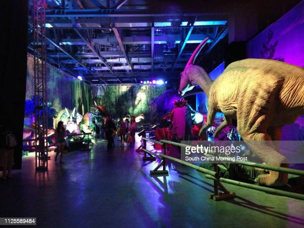 Junior reporters went to The Venetian Macao for its Dinosaurs Live exhibition which features 30 animatronic dinosaurs 19JUL13