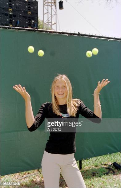 EXCLUSIVE Junior russian tennis champion Maria Sharipova tosses four balls