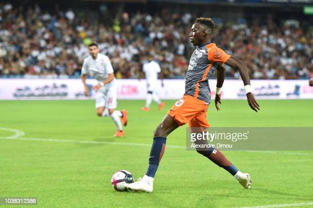 Junior Sambia of Montpellier during the Ligue 1 match between Montpellier and Nice at Stade de la Mosson on September 22 2018 in Montpellier France