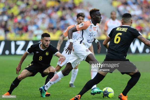 Junior Sambia of Montpellier during the Ligue 1 match between Nantes and Montpellier Herault SC at Stade de la Beaujoire on May 6 2018 in Nantes