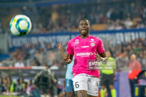 Junior Sambia of Montpellier in action during the Montpellier V Monaco French Ligue 1 regular season match at Stade de la Mosson on October 5th 2019...