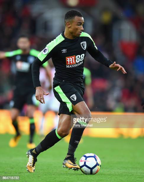 Junior Stanislas of AFC Bournemouth during the Premier League match between Stoke City and AFC Bournemouth at Bet365 Stadium on October 21 2017 in...