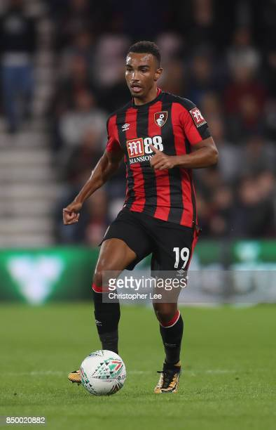 Junior Stanislas of AFC Bournemouth in action during the Carabao Cup Third Round match between Bournemouth and Brighton and Hove Albion at Vitality...