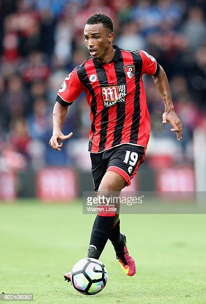Junior Stanislas of AFC Bournemouth in action during the Premier League match between AFC Bournemouth and West Bromwich Albion at Vitality Stadium on...