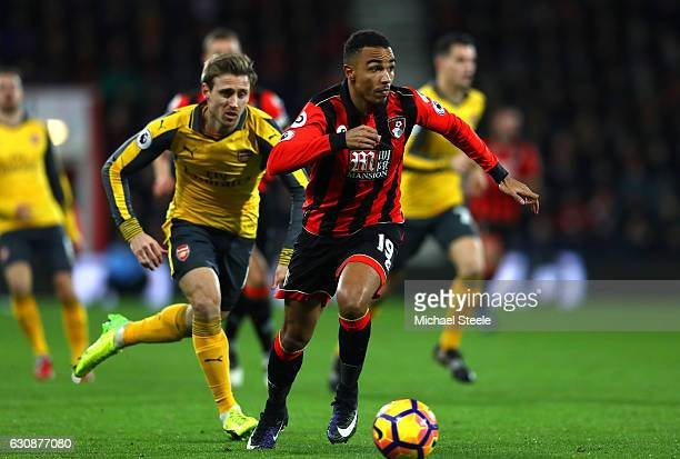Junior Stanislas of AFC Bournemouth in action during the Premier League match between AFC Bournemouth and Arsenal at Vitality Stadium on January 3...