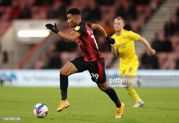 Junior Stanislas of AFC Bournemouth in action during the Sky Bet Championship match between AFC Bournemouth and Wycombe Wanderers at Vitality Stadium...