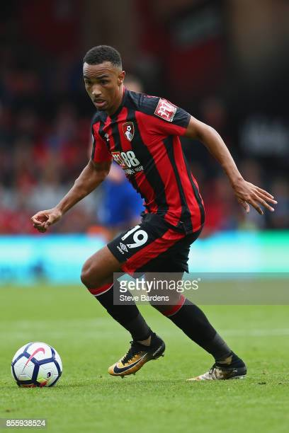 Junior Stanislas of AFC Bournemouth reacts during the Premier League match between AFC Bournemouth and Leicester City at Vitality Stadium on...