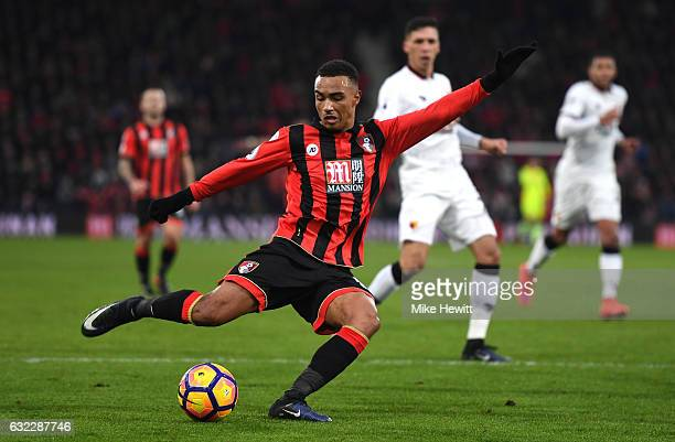 Junior Stanislas of AFC Bournemouth shoots during the Premier League match between AFC Bournemouth and Watford at Vitality Stadium on January 21 2017...